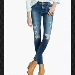 Lucky Brand Brooke Legging Distressed Jean